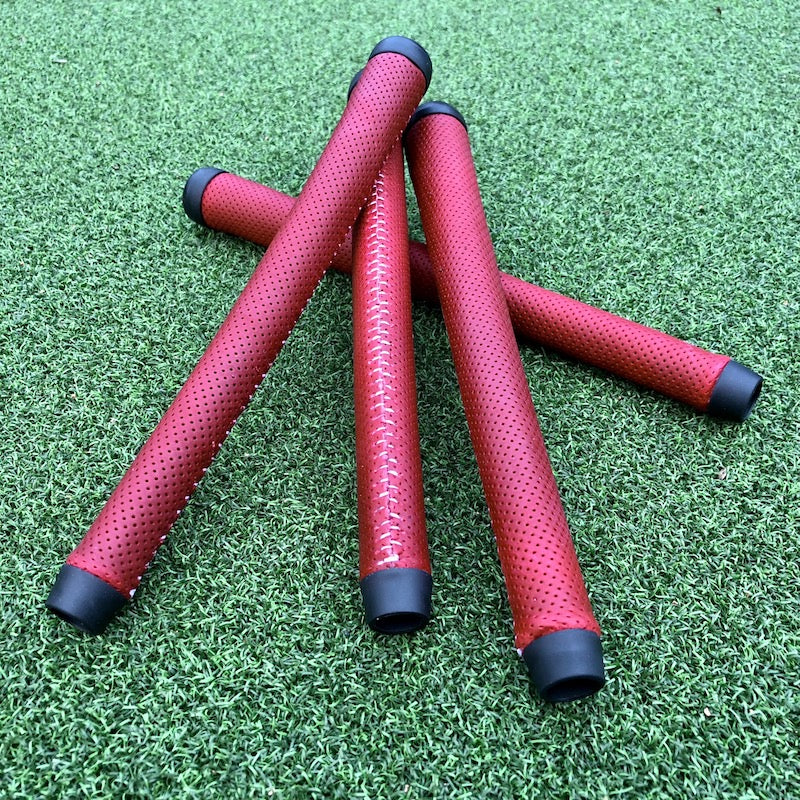 Christmas Leather Golf Grips