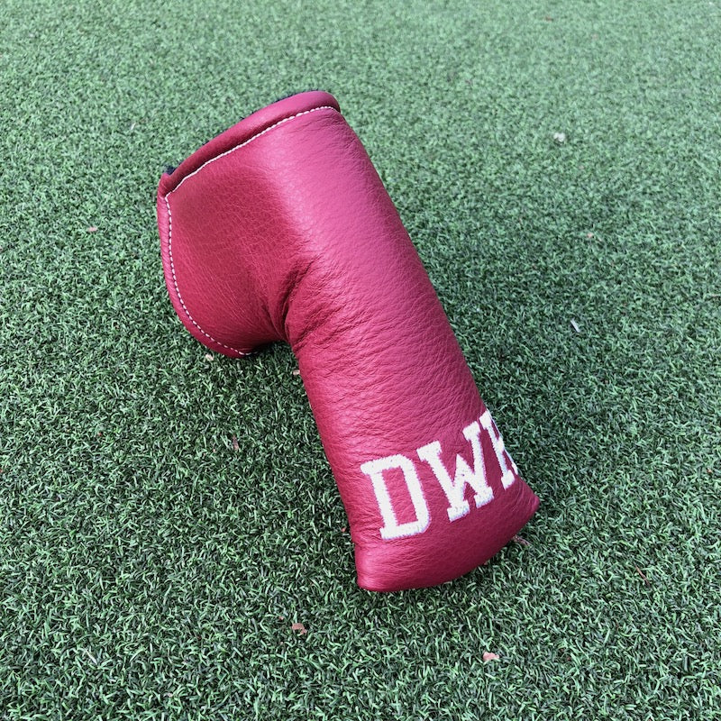 Maroon GT-L Puttershoe® with initial embroidery.