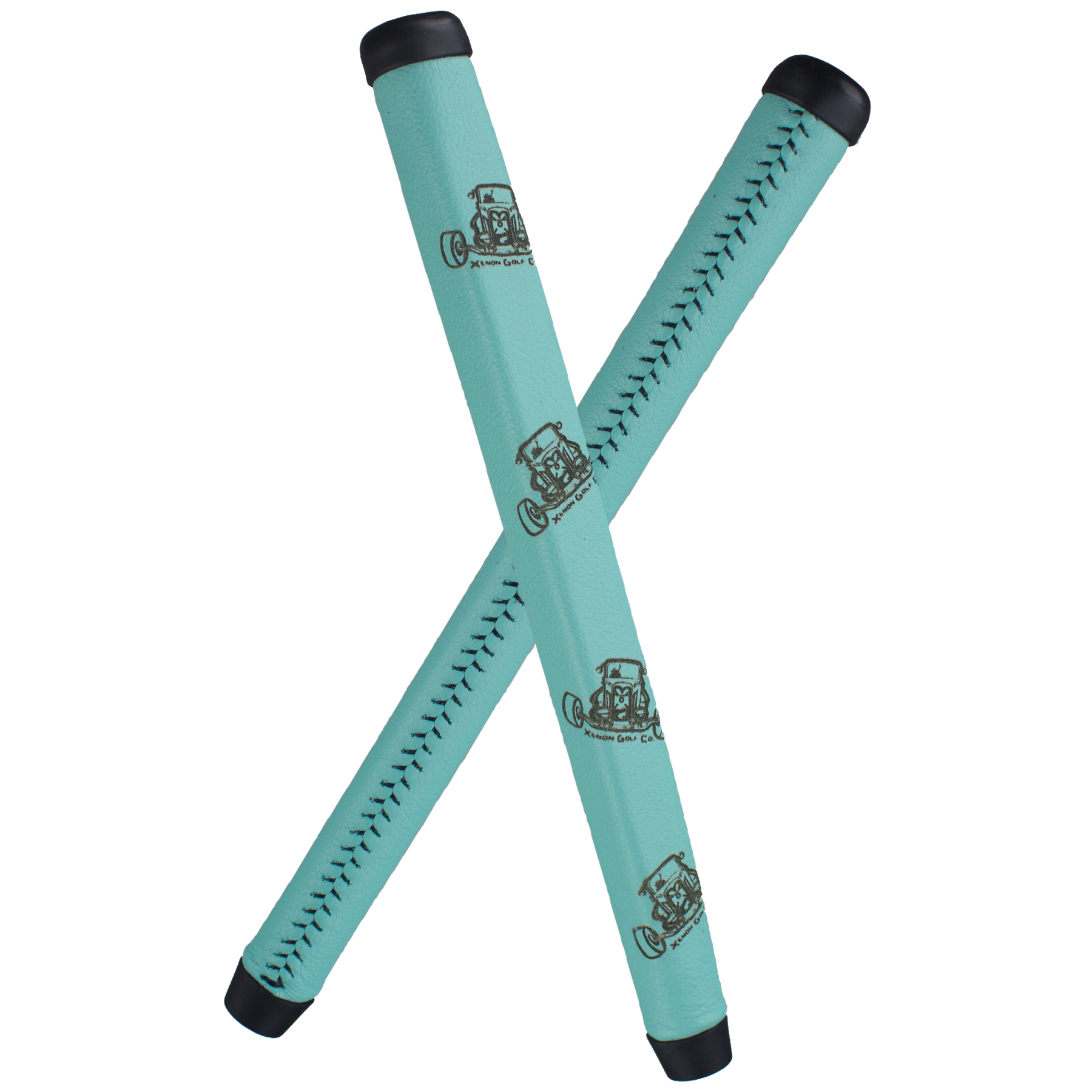 Custom Robin Egg Blue Leather Putter Grip