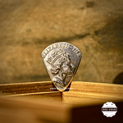 Guitar Pick with Hong Kong Coins