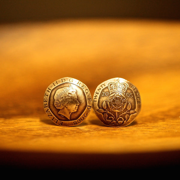 Cufflinks with Coins of the United Kingdom