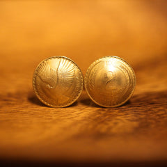 Cufflinks with Chile Coins