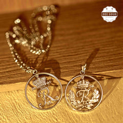 Custom Coin Cut Pendant - Alphabets