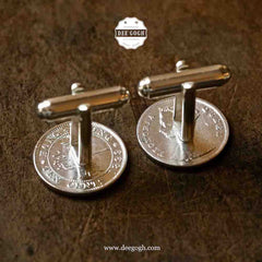 Cufflinks with Hong Kong Silver Coins