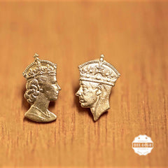 The King & Queen Dangling Earrings or Ear Studs