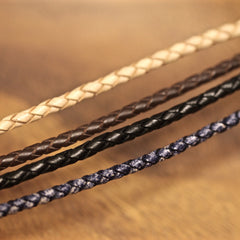 Bracelets with 4mm Leather Strap or Fabric