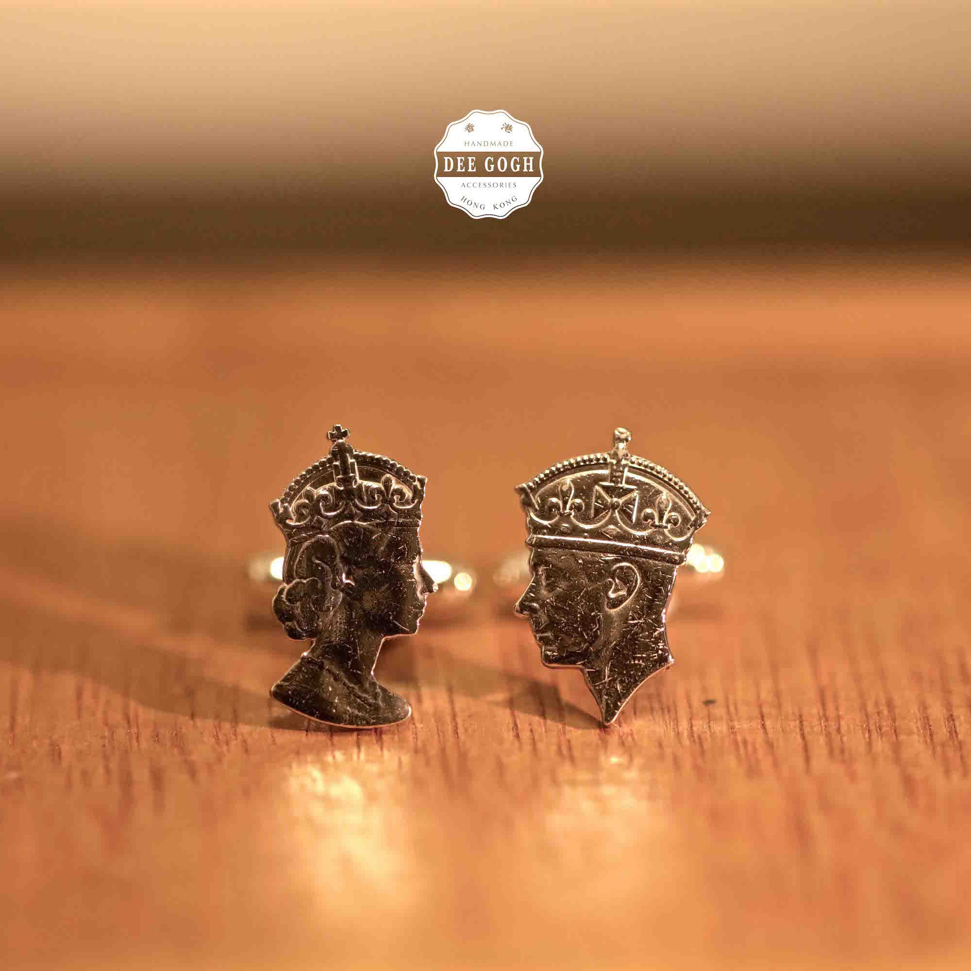Cufflinks with the King & Queen's Silhouettes