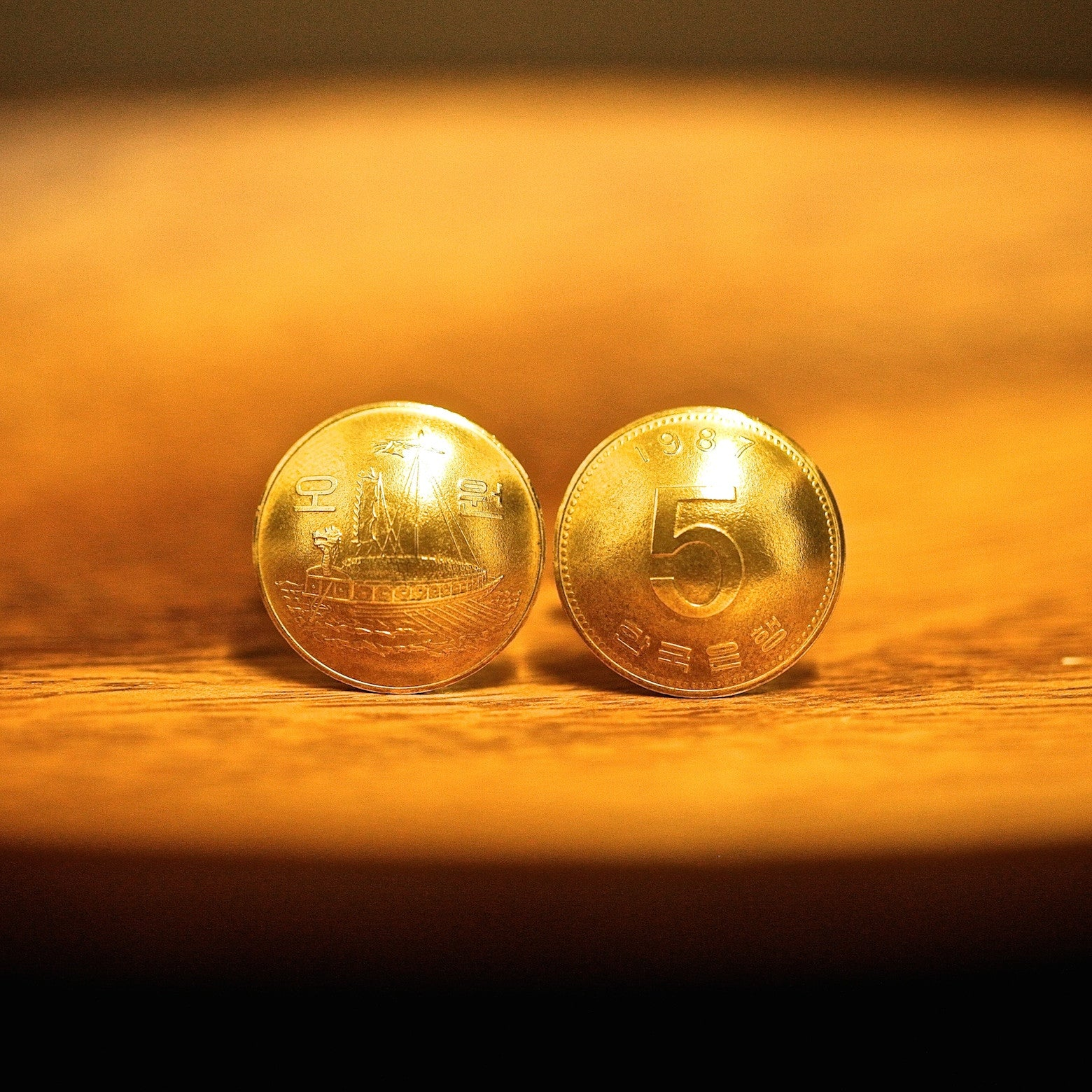 Cufflinks with Korean Coins