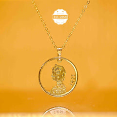 Custom Coin Cut Pendant - Hong Kong Coins