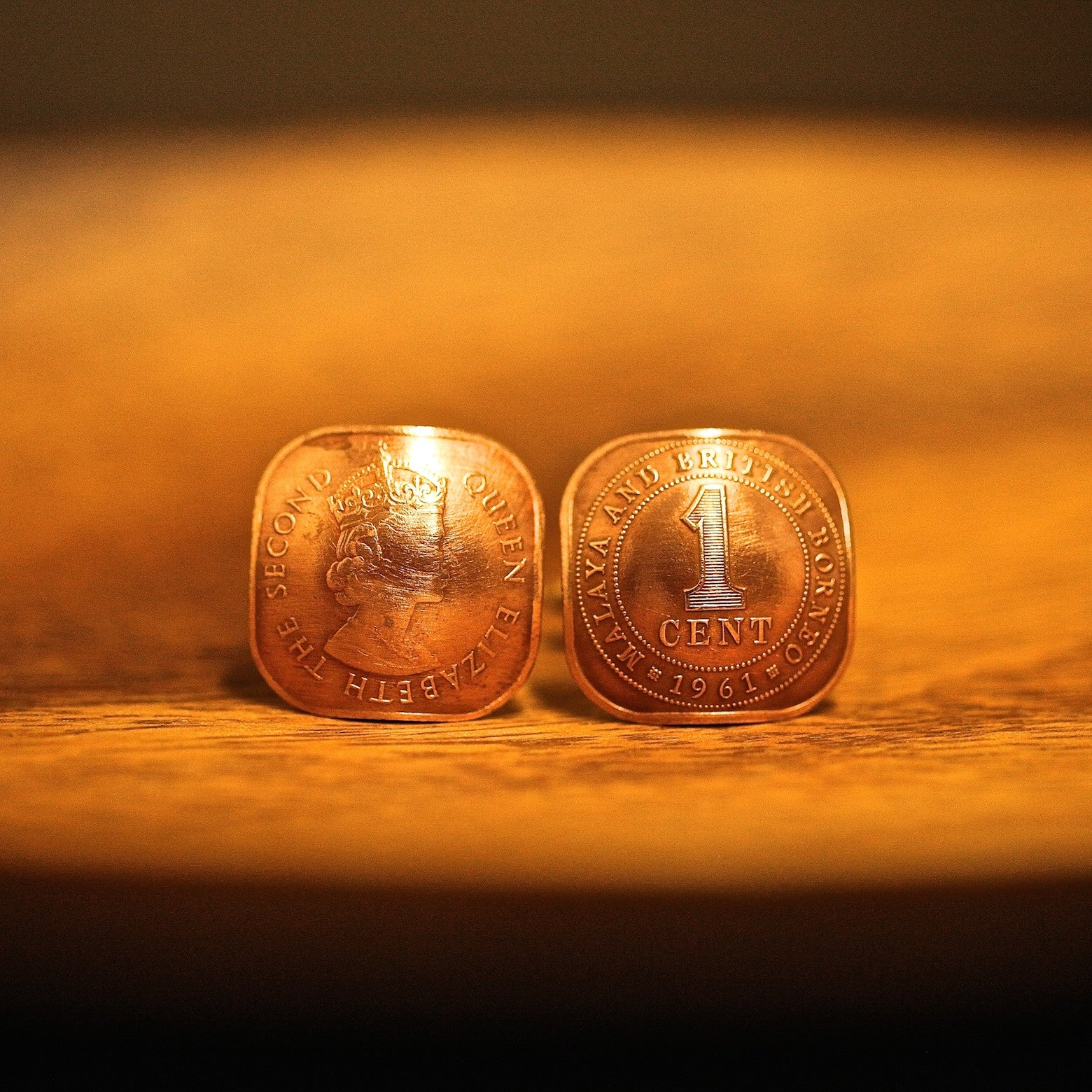 Cufflinks with Malaya and British Borneo Coins