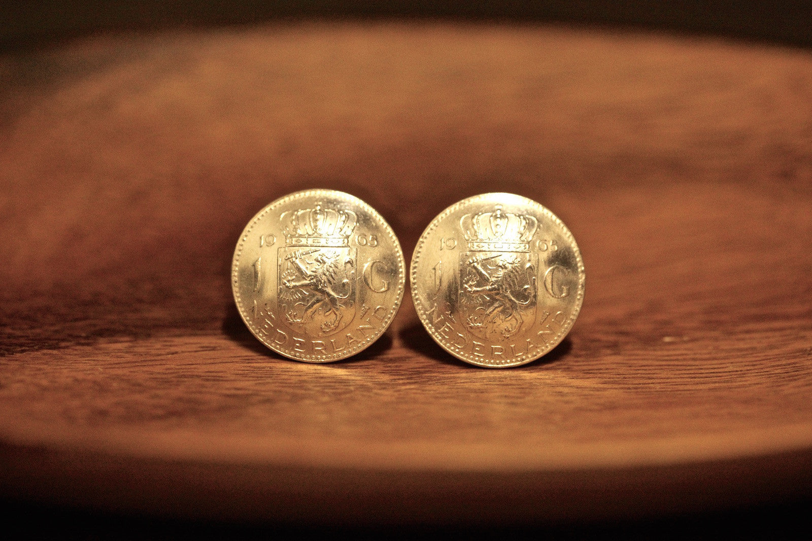 Cufflinks with Dutch Guilder