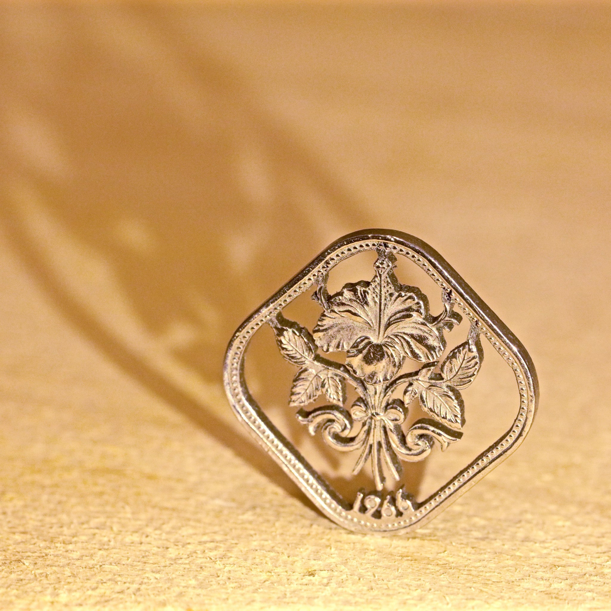 Custom Coin Cut Pendant - Plants