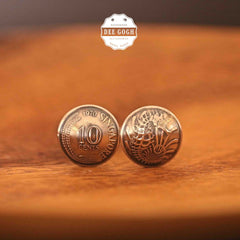 Cufflinks with Singaporean Coins
