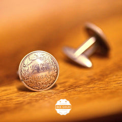Cufflinks with Switzerland Coins