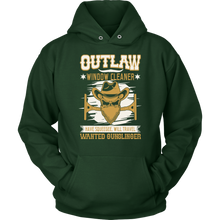 Outlaw Window Cleaner Wanted Gunslinger Hoodie