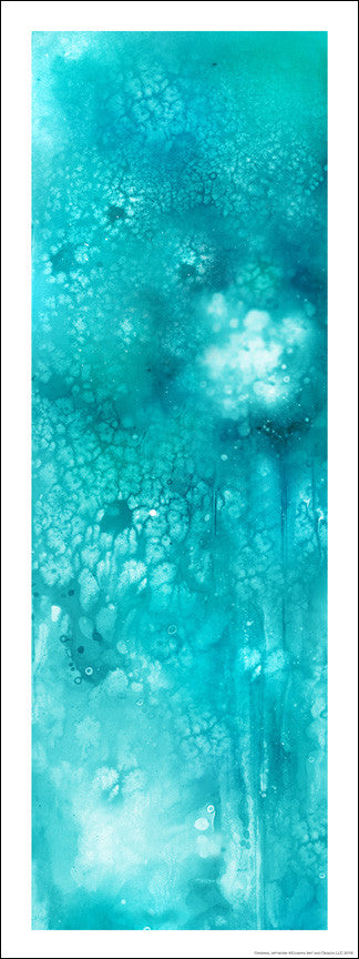 Aquaous™ (aqua) Signed giclee on archival paper - Chakra Art and Design LLC