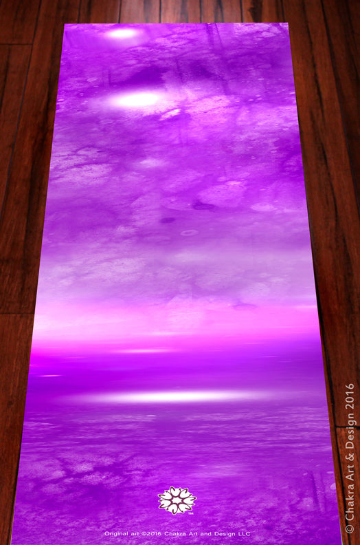 Crown™ (violet) Spiritual, Artistic, unique chakra yoga mat - Chakra Art and Design LLC