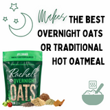RACHEL'S APPLE CINNAMON ORGANIC GLUTEN FREE SUPERFOOD OATS - 3 PACK- MAKE COLD OVERNIGHT OR HOT