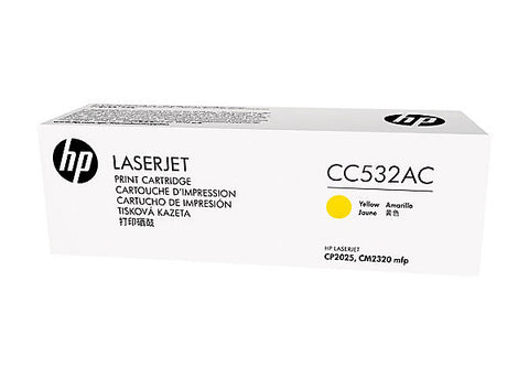 HP 304A (CC532AC) Color LaserJet CM2320 MFP CP2025 Yellow Original LaserJet Contract Toner Cartridge (2800 Yield)