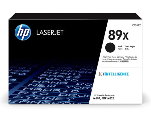 HP 89X (CF289X) High Yield Black LaserJet Toner Cartridge (10000 Yield)