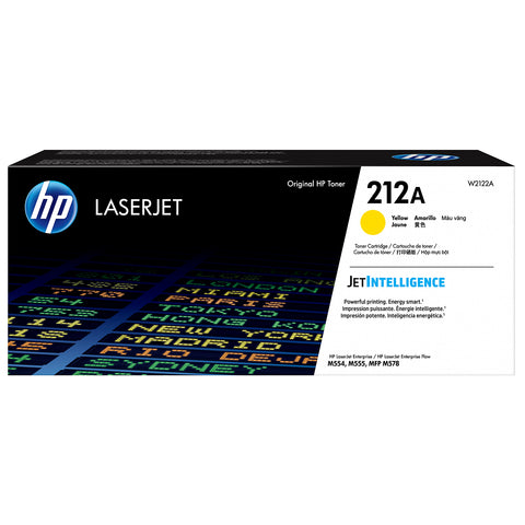 HP 212A Yellow Original LaserJet Toner Cartridge (4,500 pages)
