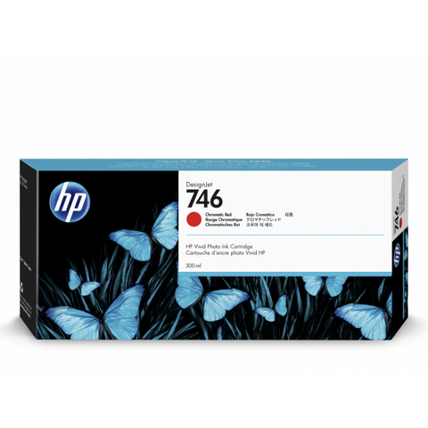HP 746 300-ml Chromatic Red DesignJet Ink Cartridge
