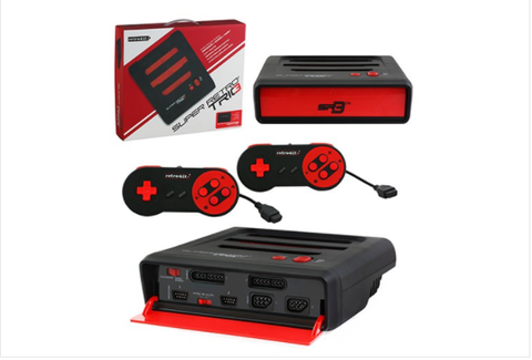 Bitswift Retro Bit Super RetroTRIO 3 in 1 console Red/Black, NES/SNES/Genesis