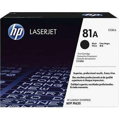 HP 81A (CF281A) LaserJet Enterprise M604 M605 M606 Flow MFP M630z Enterprise MFP M630 Black Original LaserJet Toner Cartridge (10500 Yield)