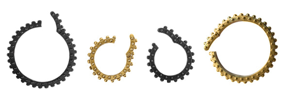 Boheme Clicker Charm rings  in gold and oxi