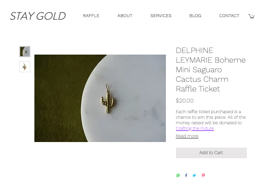 Delphine Leymarie Stay Gold Collective Raffle