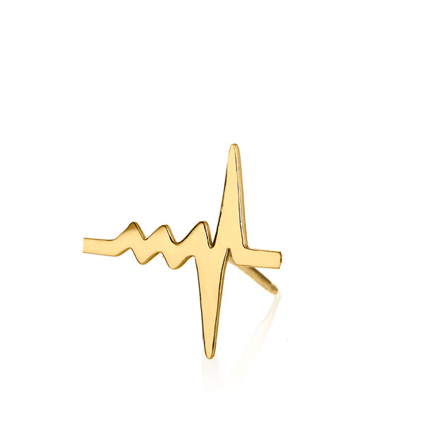 18k recycled gold Heartbeat Stud from delphine Leymarie
