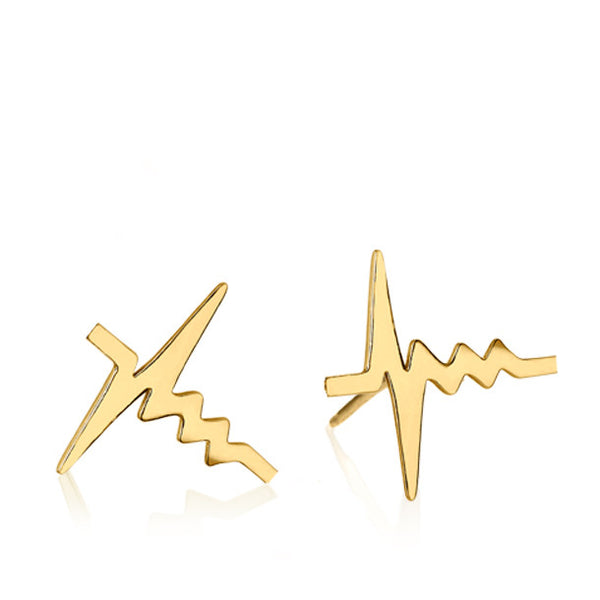 AMOUR HEARTBEAT STUD EARRINGS