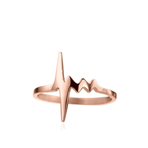 AMOUR TINY HEARTBEAT RING 18KR rts