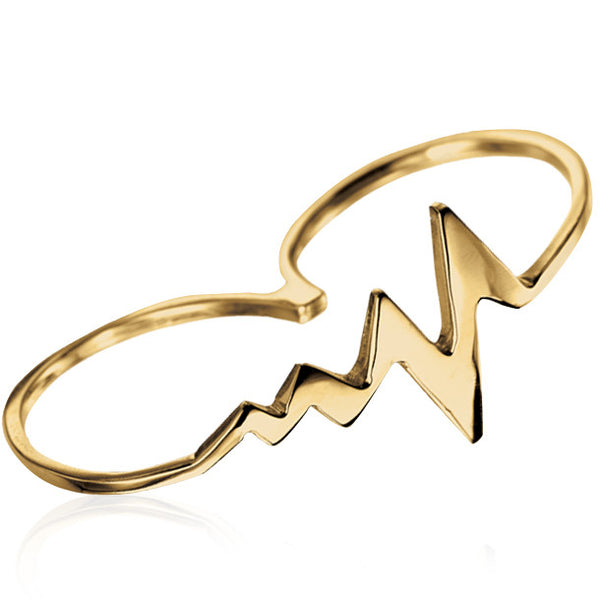 AMOUR HEARTBEAT TWO-FINGER RING