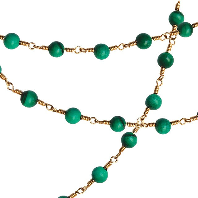 BOHEME DELPH MALACHITE BEAD CHAIN