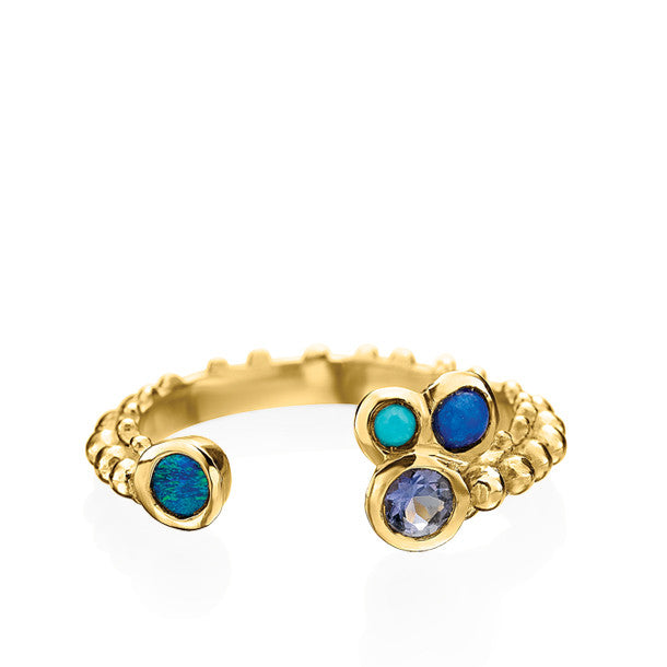 BOHEME CROWN QUATRE RING BLEUE