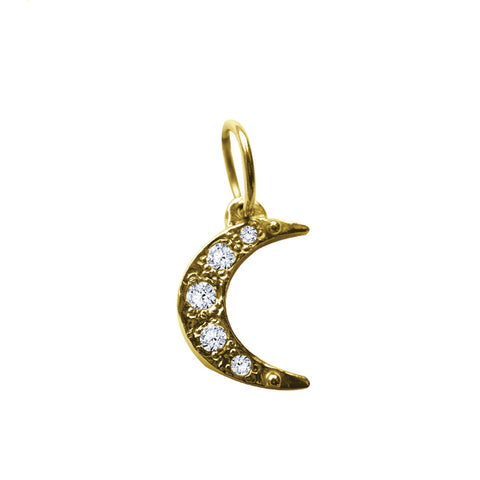 BOHEME MINI DIAMOND MOON CHARM