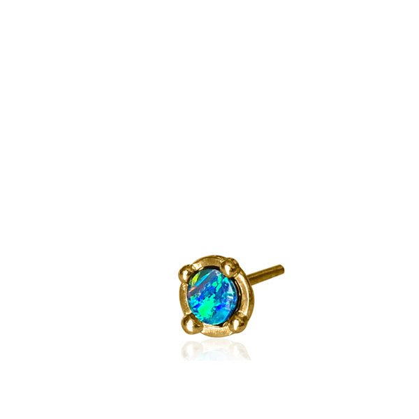 BOHEME TINY HYPNOSE BLUE OPAL SINGLE STUD