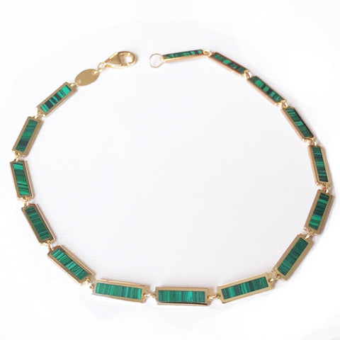 BOHEME LA MINI BELLE MALACHITE INLAY BRACELET rts