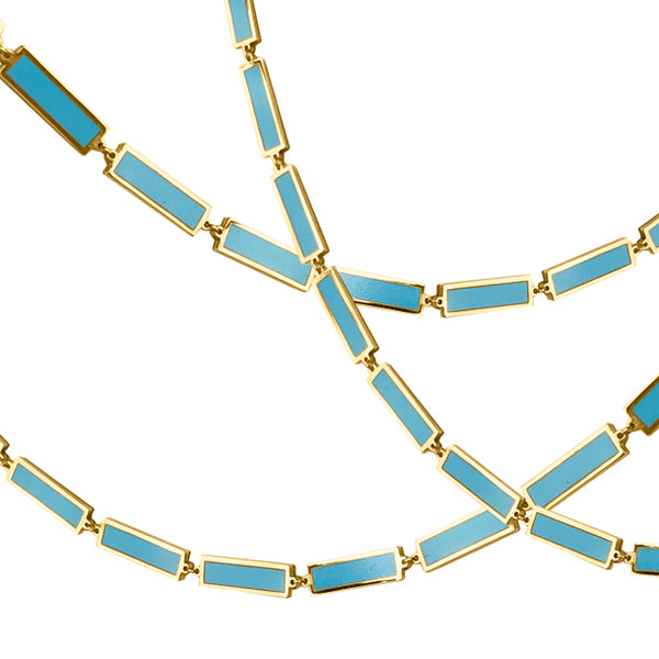 BOHEME LA BELLE TURQUOISE INLAY GOLD CHAIN rts