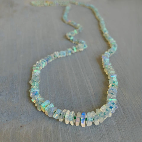BOHEME LA JOIE SQUARE OPAL NECKLACE