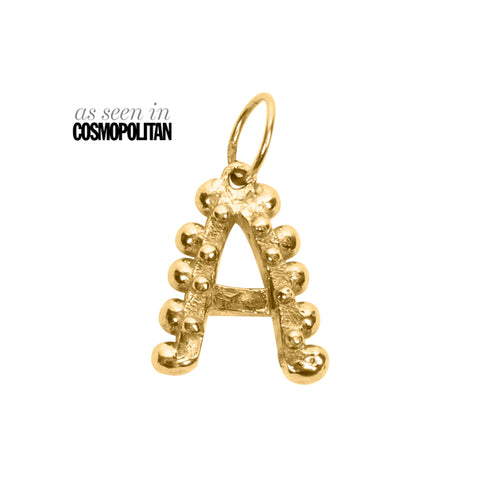 BOHEME SOLID GOLD INITIAL CHARM