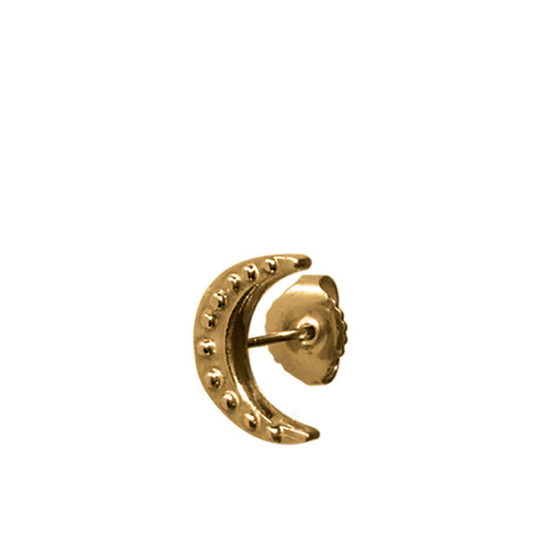 BOHEME MINI MOON GOLD STUD