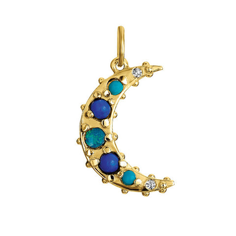 BOHEME BLUE CRESCENT MOON CHARM