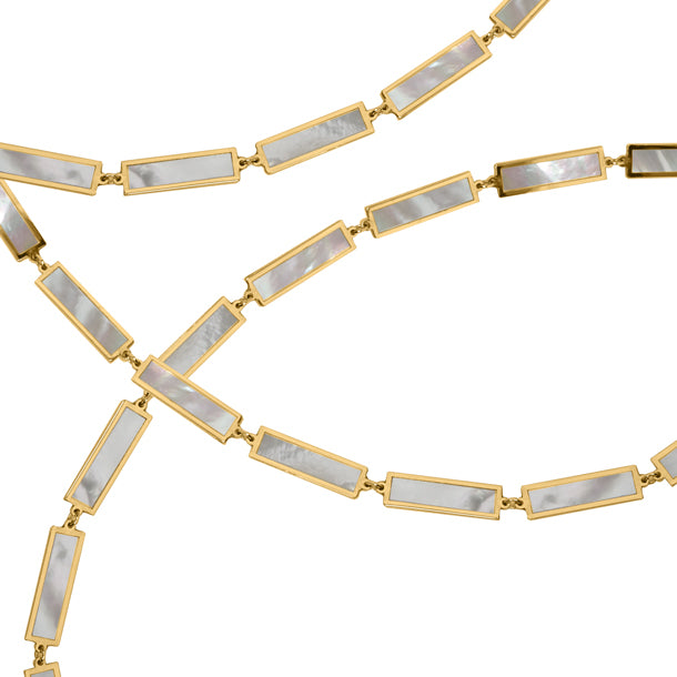 BOHEME LA BELLE MOP INLAY GOLD CHAIN rts