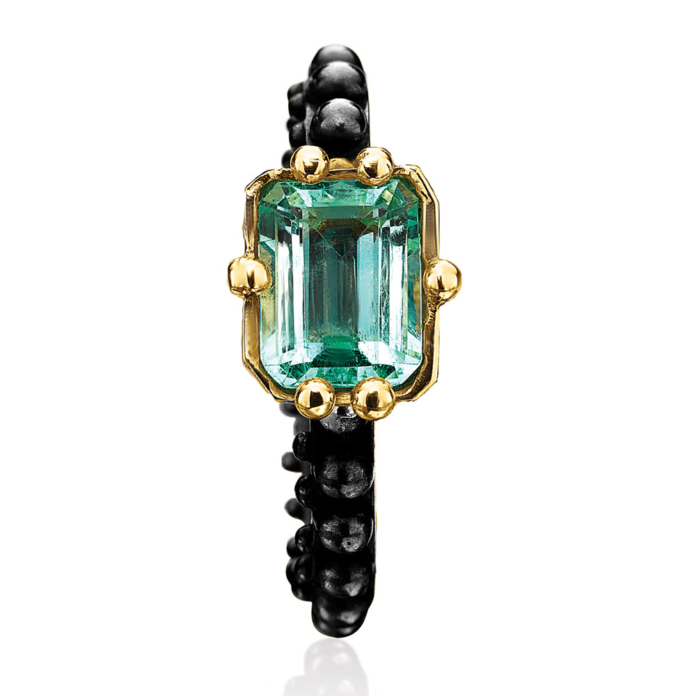 BOHEME EMERALD MUSE XL RING