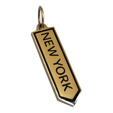BOHEME NEW YORK SIGN CHARM rts