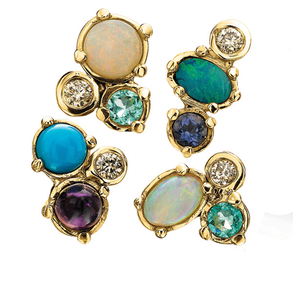 BOHEME GEM CLUSTER SINGLE STUD