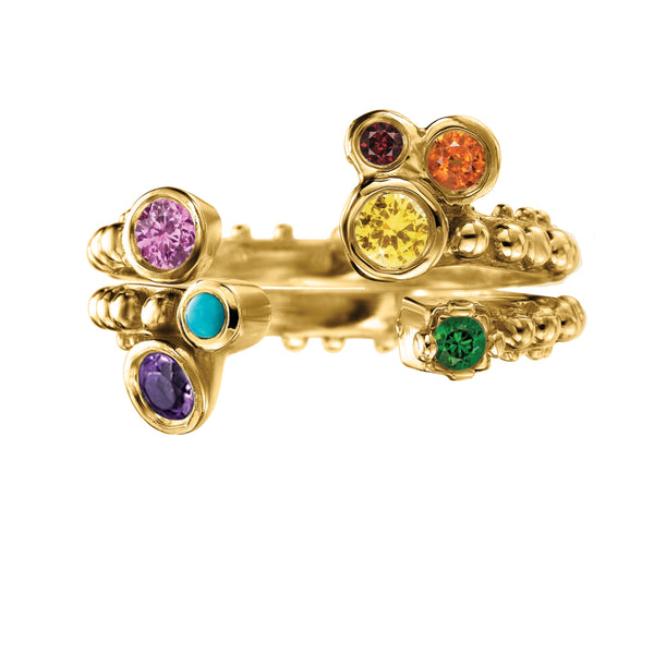 BOHEME CROWN RAINBOW RINGS rts