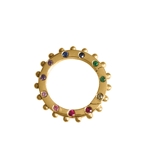 BOHEME RAINBOW CLICKER CHARM RING rts